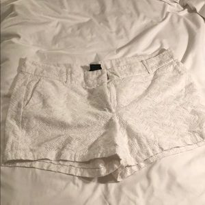 Ann Taylor White Pattern Shorts sz12